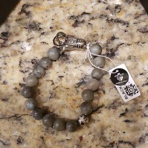 Stainless Steel And Labradorite Bead Bracelet